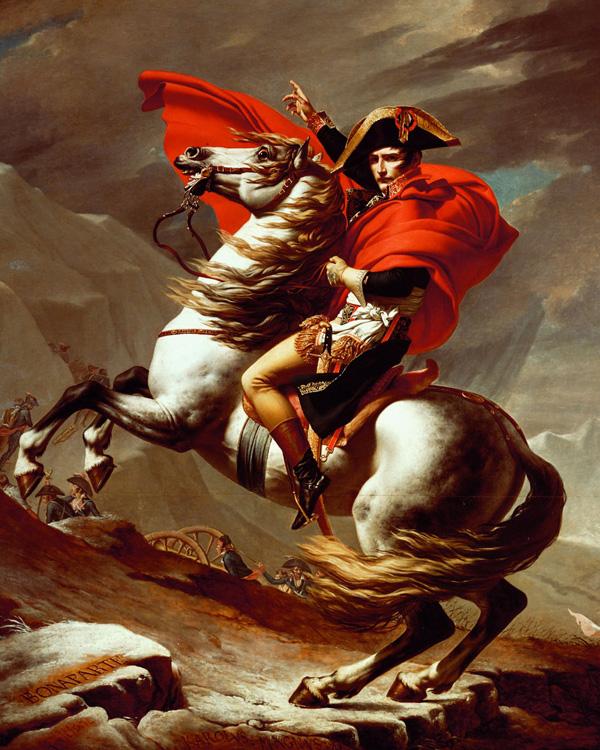 Napoleon at the St Bernard Pass, Jacques-Louis David