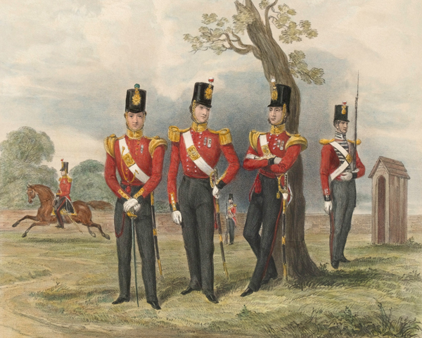 Members of the 50th (Queen's Own) Regiment, 1850