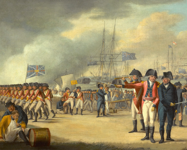 British troops landing in Holland, 1799