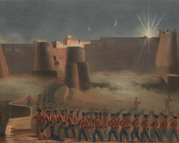 The storming of Ghazni fortress, 1839