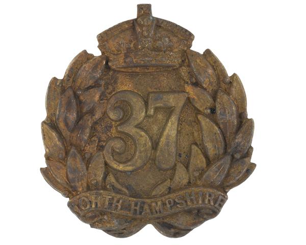 Glengarry badge, 37th (North Hampshire) Regiment, c1874