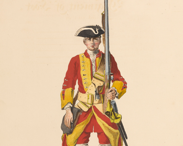 A soldier of the 29th Regiment, c1745