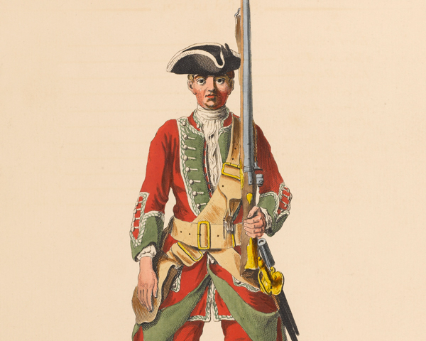 A soldier of the 36th Regiment, c1742