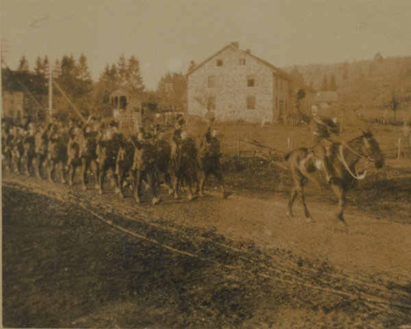 4th Battalion, The Worcestershire Regiment, crossing the German frontier, 5 December 1918