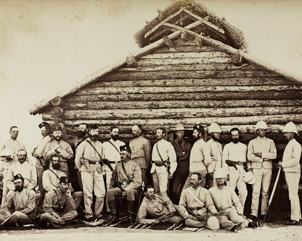 Officers of the 67th (South Hampshire) Regiment in Afghanistan, c1879