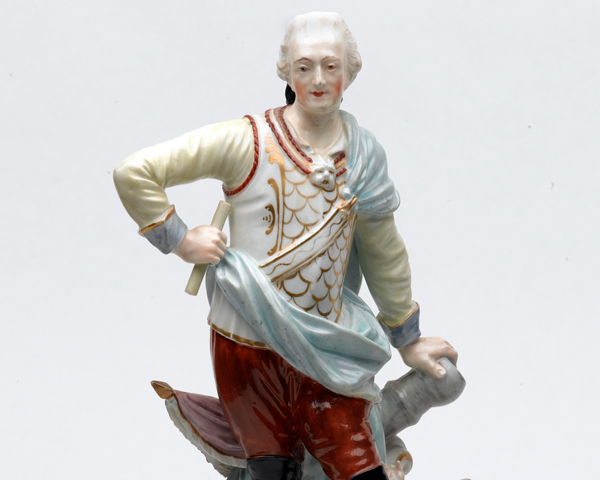 Figurine of Field Marshal Henry Conway, a leading opponent of British policy during the war, c1773