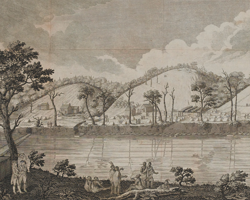 A view of the River Hudson near Stillwater, upstate New York, 1777