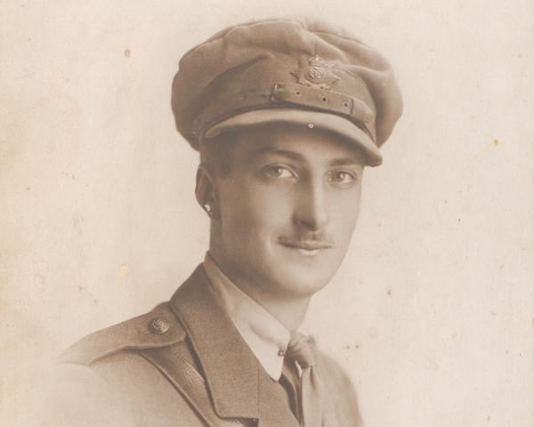 Second Lieutenant Eric Pearce Hall, The Hampshire Regiment, c1915