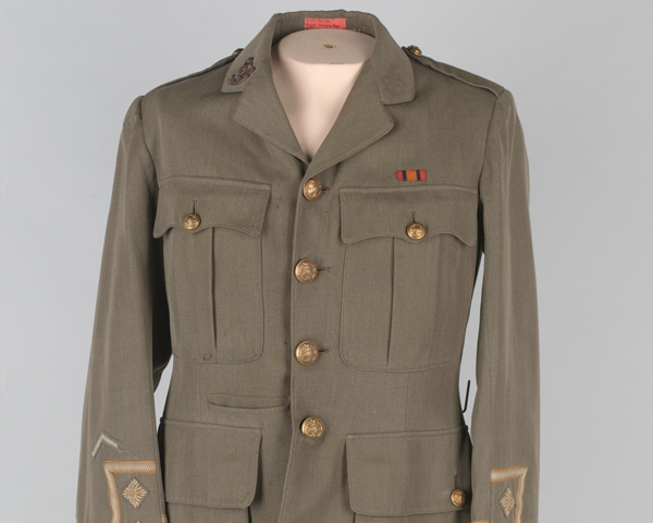 Service tunic of Lieutenant William Campbell, The Royal Sussex Regiment, c1903