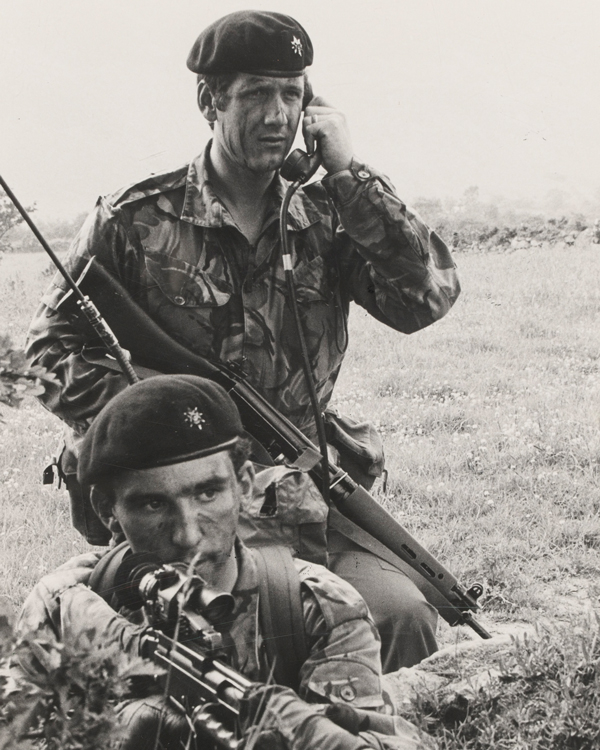 Soldiers of The Worcestershire and Sherwood Foresters, Northern Ireland, 1977