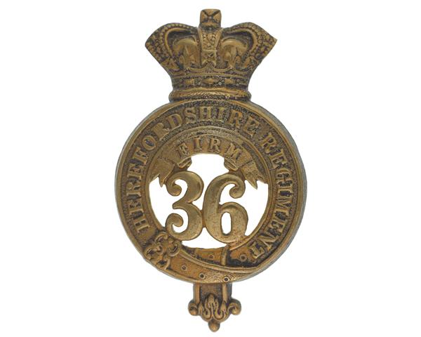Glengarry badge, 36th (Herefordshire) Regiment, c1874