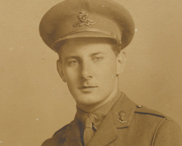 Second Lieutenant Noel Evans, Royal Field Artillery, June 1918