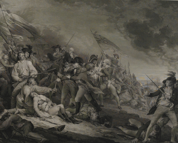 The death of General Joseph Warren at Bunker Hill, 1775