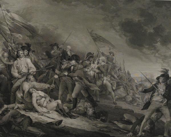 The death of General Joseph Warren at Bunker Hill, 1775