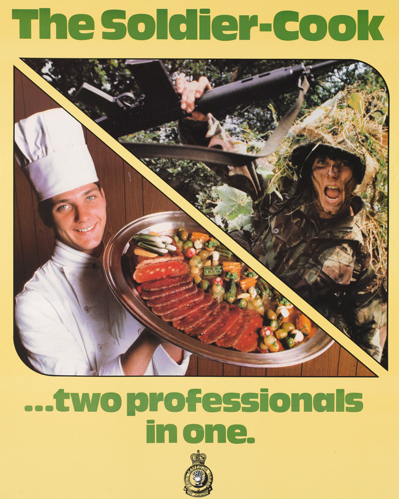 'The Soldier Cook two professionals in one. The Army Catering Corps', 1982