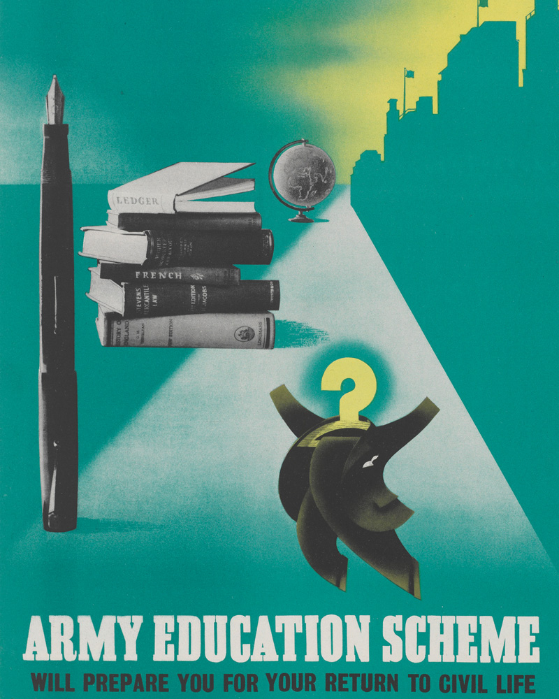Poster for the Army Education Scheme, 1944