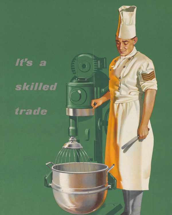 Recruitment poster for the Army Catering Corps, c1960