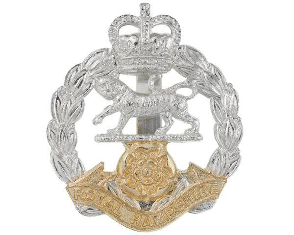 Other ranks' cap badge, The Royal Hampshire Regiment, c1971