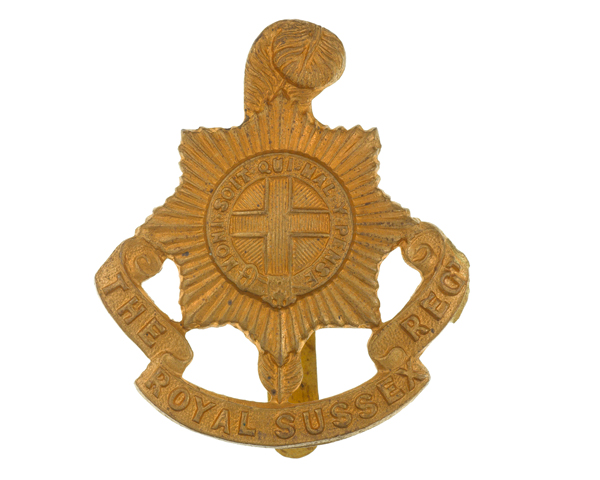 Other ranks' cap badge, The Royal Sussex Regiment, c1916