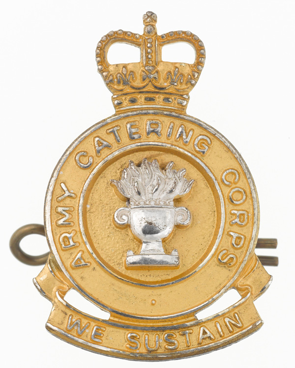 Officers' cap badge, Army Catering Corps, 1990