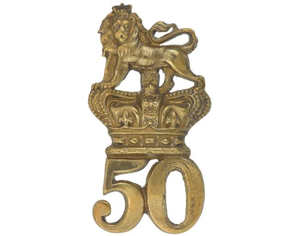 Glengarry badge, 50th (Queen's Own) Regiment of Foot, c1874
