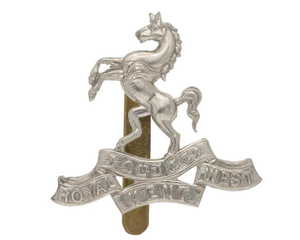 Cap badge, The Queen's Own Royal West Kent Regiment, 1898