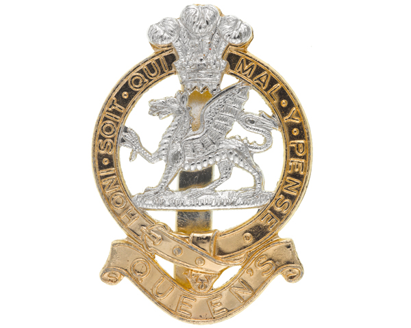 Other ranks' beret badge, The Queen's Regiment, c1973