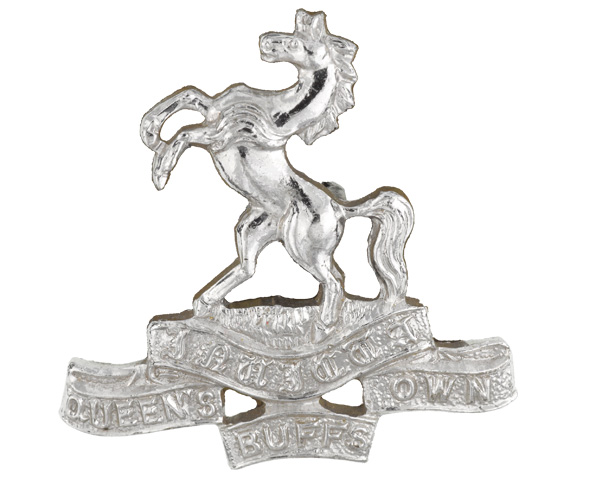 Other ranks collar badge, The Queen's Own Buffs, The Royal Kent Regiment, 1961