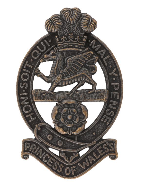 Cap badge, The Princess of Wales's Royal Regiment, c2015
