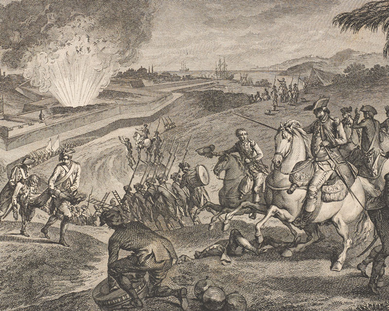 French troops besieging Pensacola in Florida, 1781
