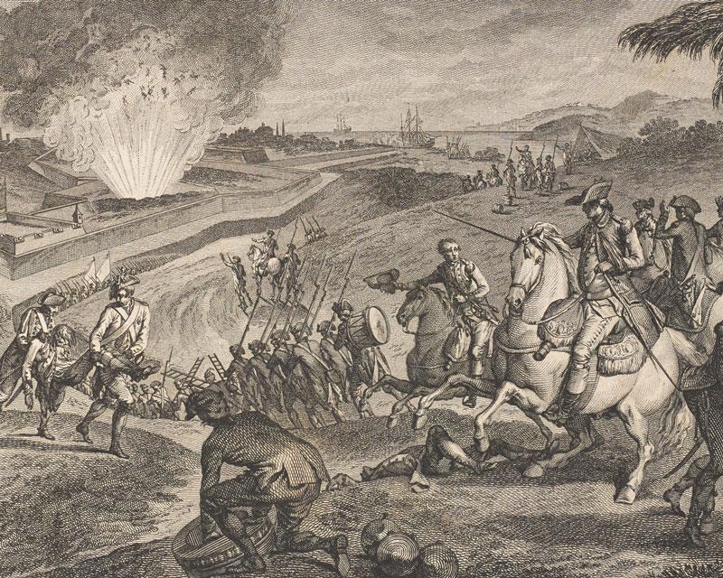 French troops besieging Pensacola in Florida, 1781