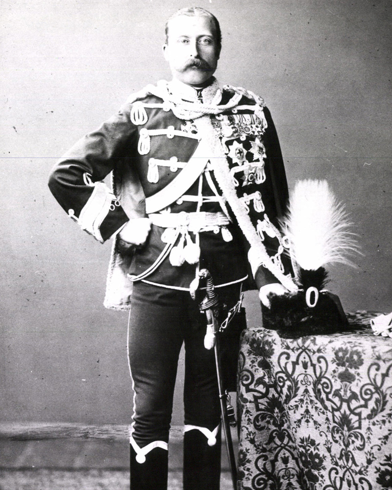 The Duke of Connaught in the uniform of the 3rd von Zieten Hussars, Berlin, 1883