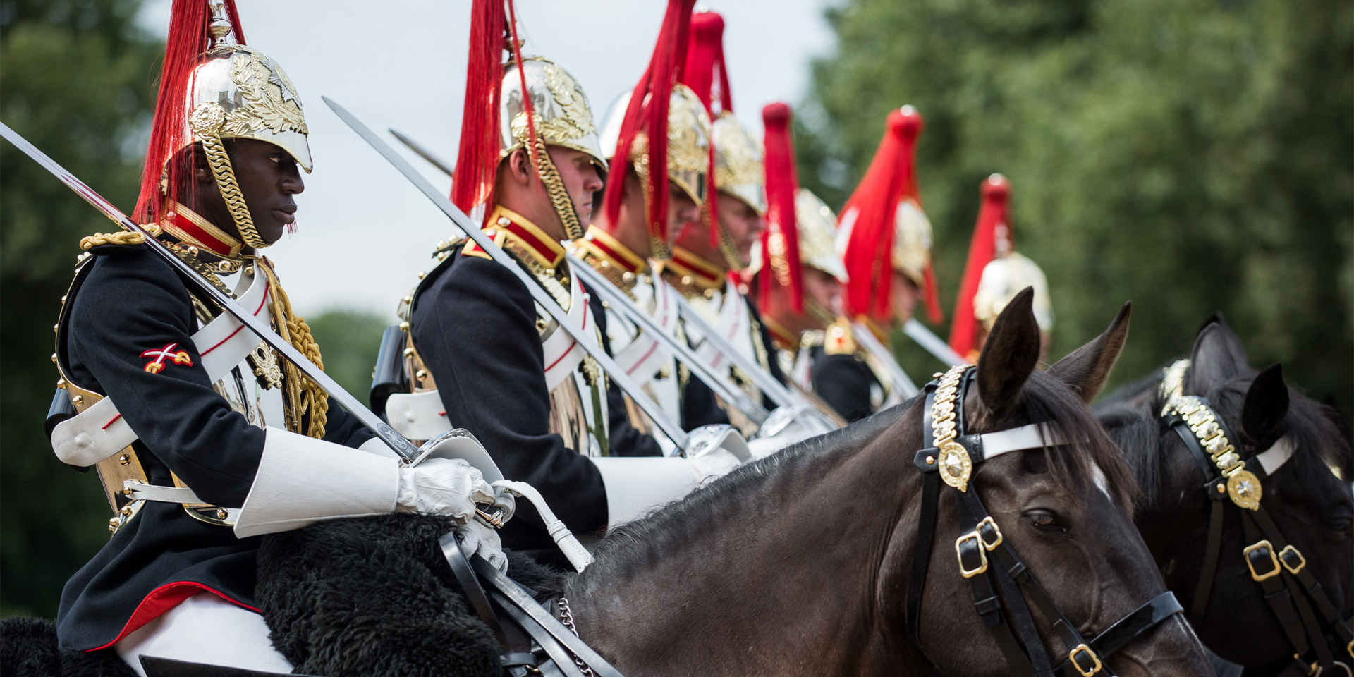 Household Cavalry Mounted Regiment, Horse Guards, London, 2016
