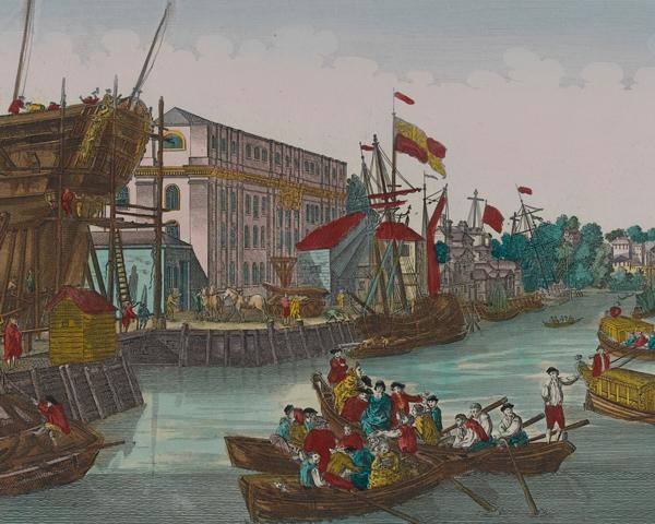 British troops landing at New York, 1776