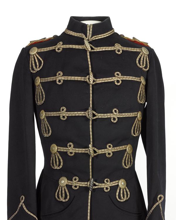 Tunic, 3rd von Zieten Hussars, worn by The Duke of Connaught, c1900s