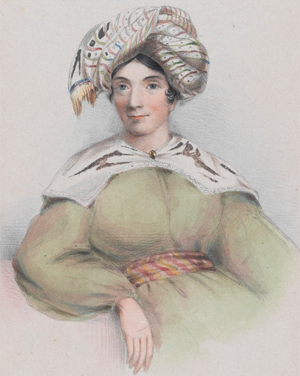 Drawing of Lady Florentia Sale, 1843.