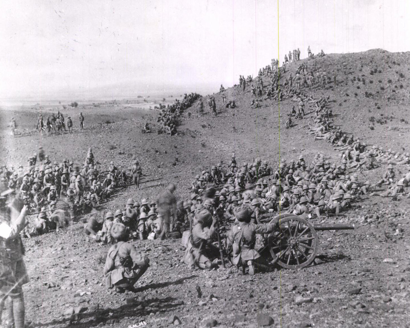 The 2nd Queen's Own (Royal West Kent Regiment) on manoeuvres, India, 1912