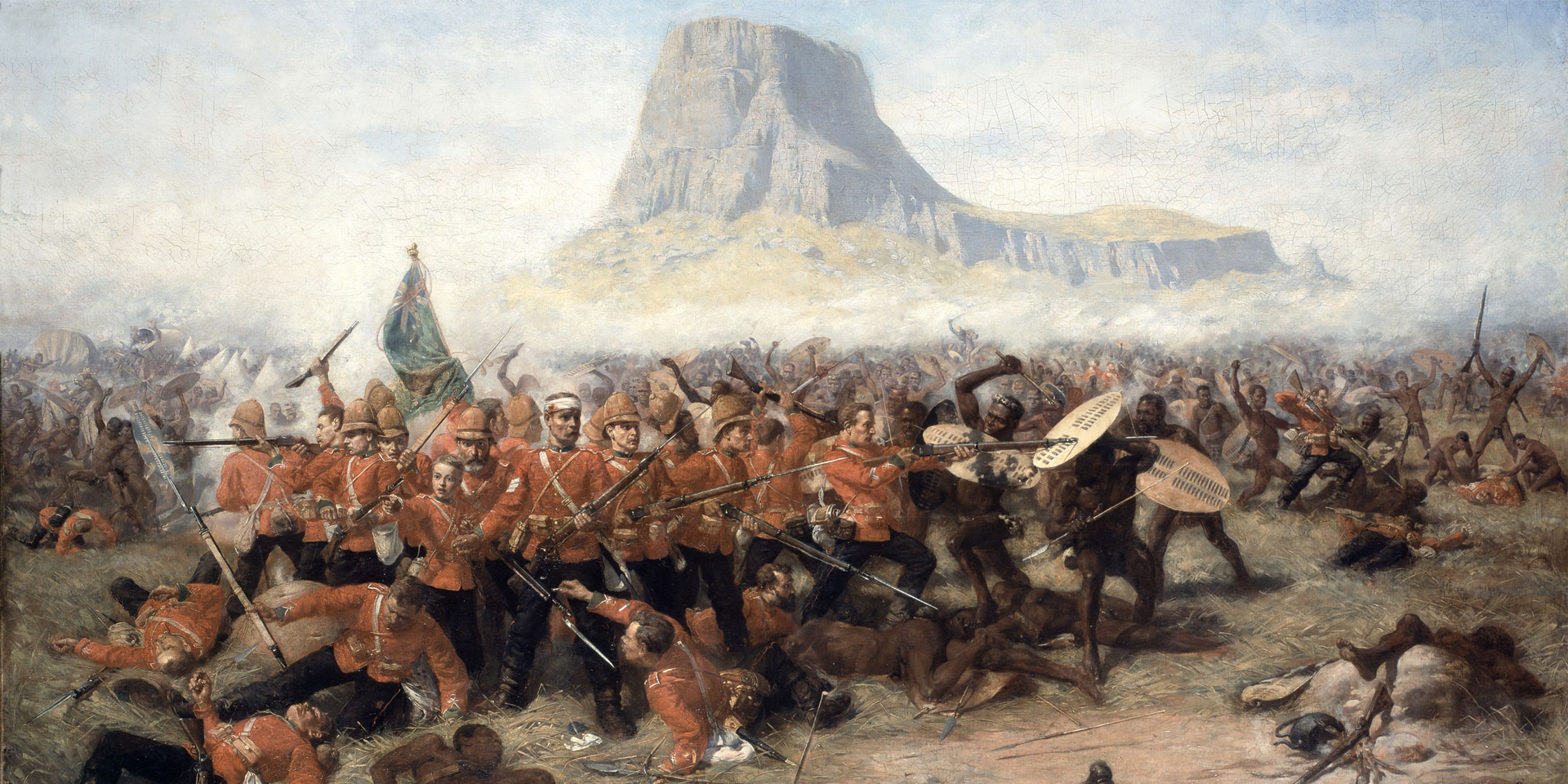 The Battle of Isandlawana by Charles Edwin Fripp, 1885