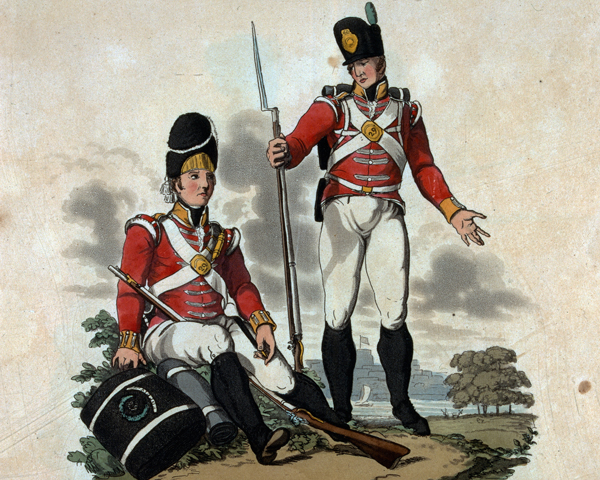 Soldiers of the 29th Regiment, 1812