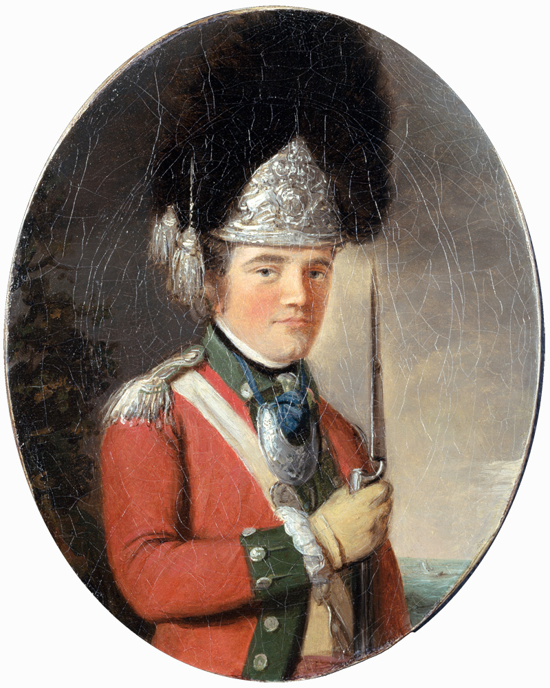 An officer of the Grenadier Company, 63rd Regiment, 1775