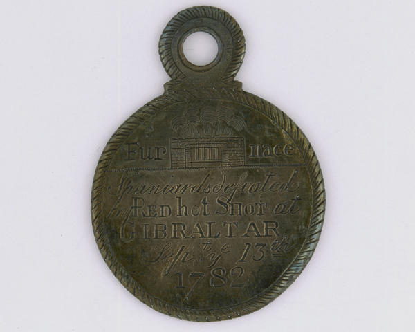 Red hot shot medal for the defence of Gibraltar, 1782