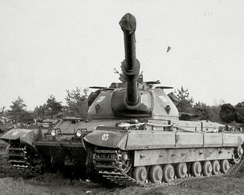 A Conqueror tank on exercise in Germany, 1960