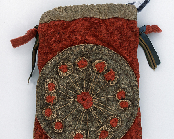 Embroidered cloth purse belonging to Sergeant Frederick Newman, 97th Regiment, 1854