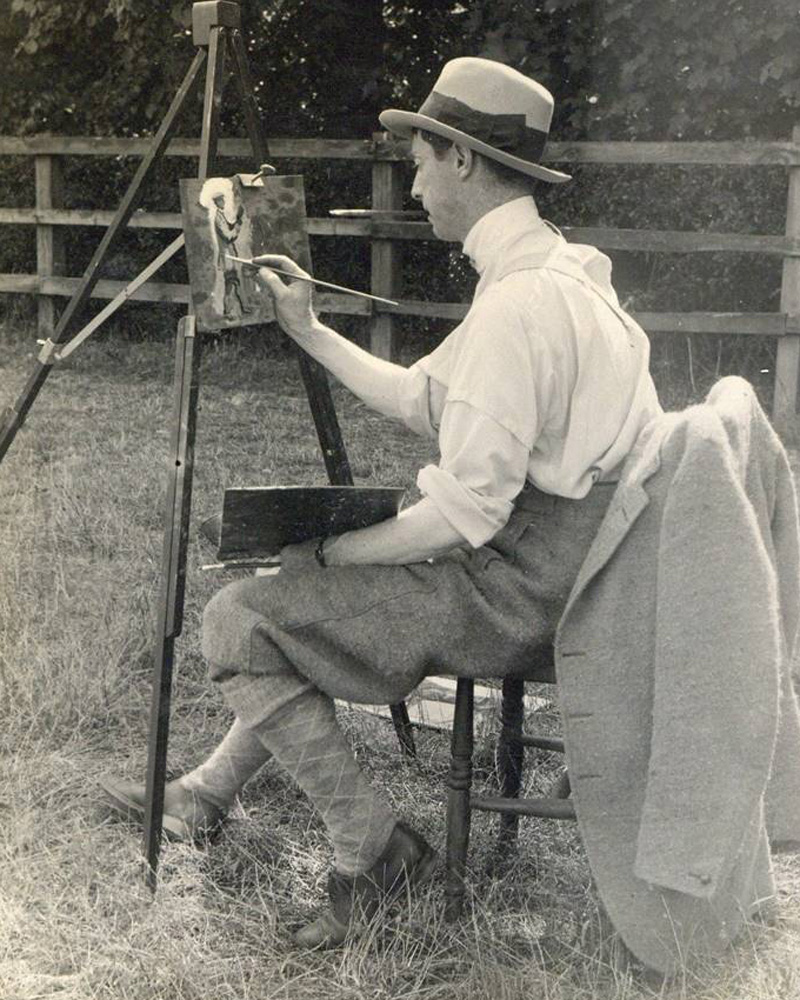 Alfred Munnings at work, c1914