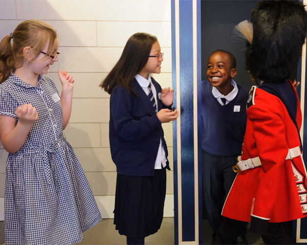 Primary school children take over at the National Army Museum