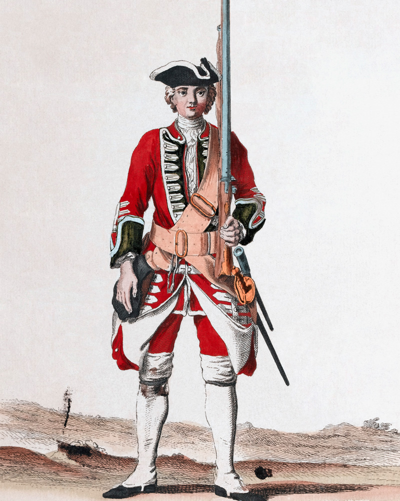 A soldier of the 24th Regiment, c1745