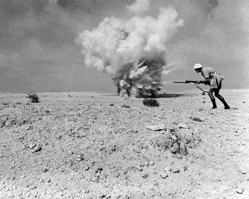 British infantry advancing at El Alamein, 1942