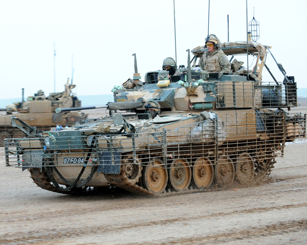 Household Cavalry Regiment Scimitar light reconnaissance tank, Helmand, 2011