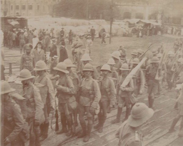 2nd Battalion The South Wales Borderers embarking for Tsingtao, 1914