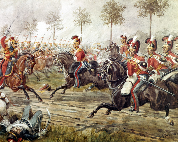 Charge of the 1st Life Guards at Genape, 1815